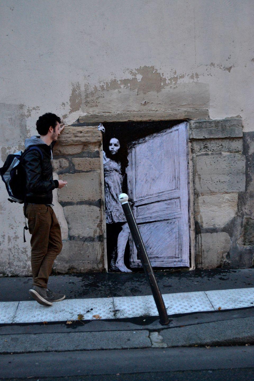 graffiti puerta