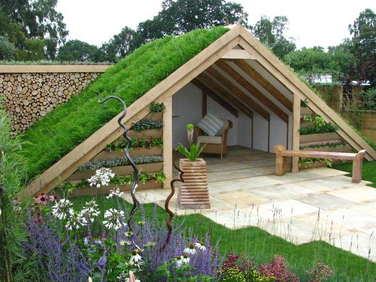 casita de césped para jardín
