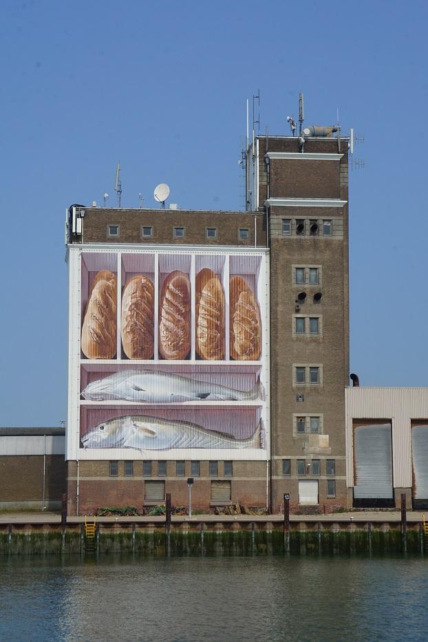 graffiti gigante en un edificio
