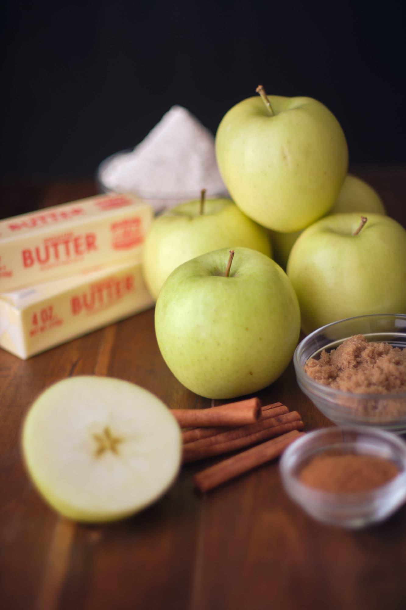 pastel de hojaldre de manzana