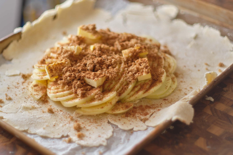 postre galette con manzanas