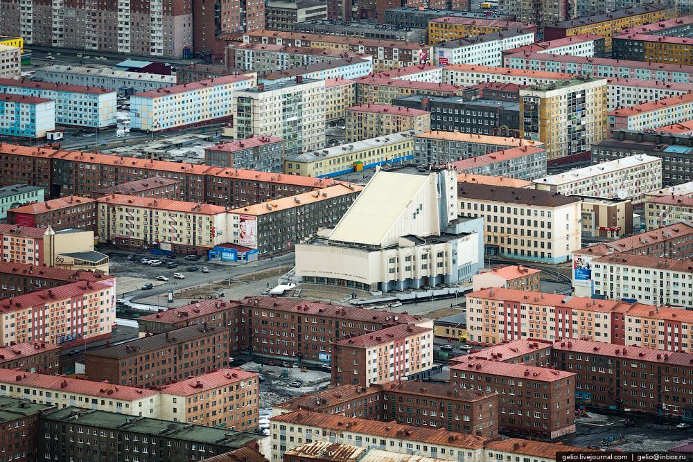 Norilsk ciudad industrial de Siberia
