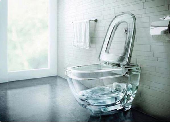 inodoro transparente diseños de interiores