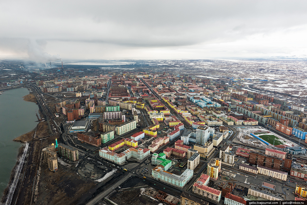 Norilsk ciudad triste y deprimente