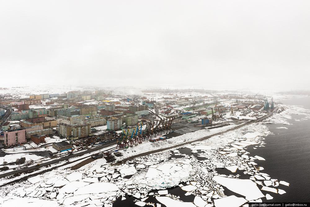 paisaje nevado en siberia