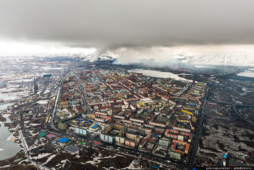 Norilsk ciudad rusa triste