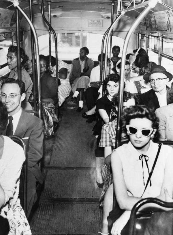 autobus blancos negros
