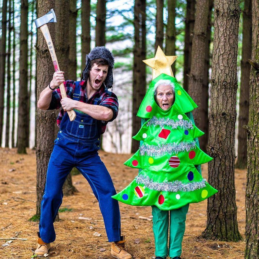 árbol navidad disfraz