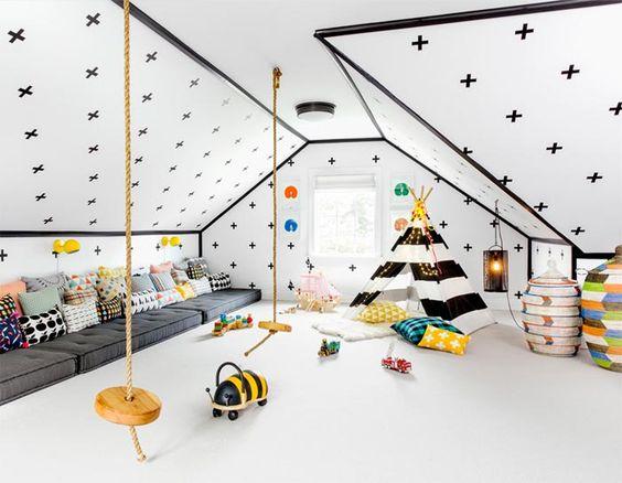 habitación niños buhardilla
