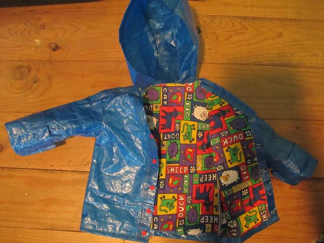 abrigo para niño hecho en casa