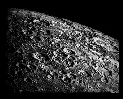 superficie de la luna foto de la nasa