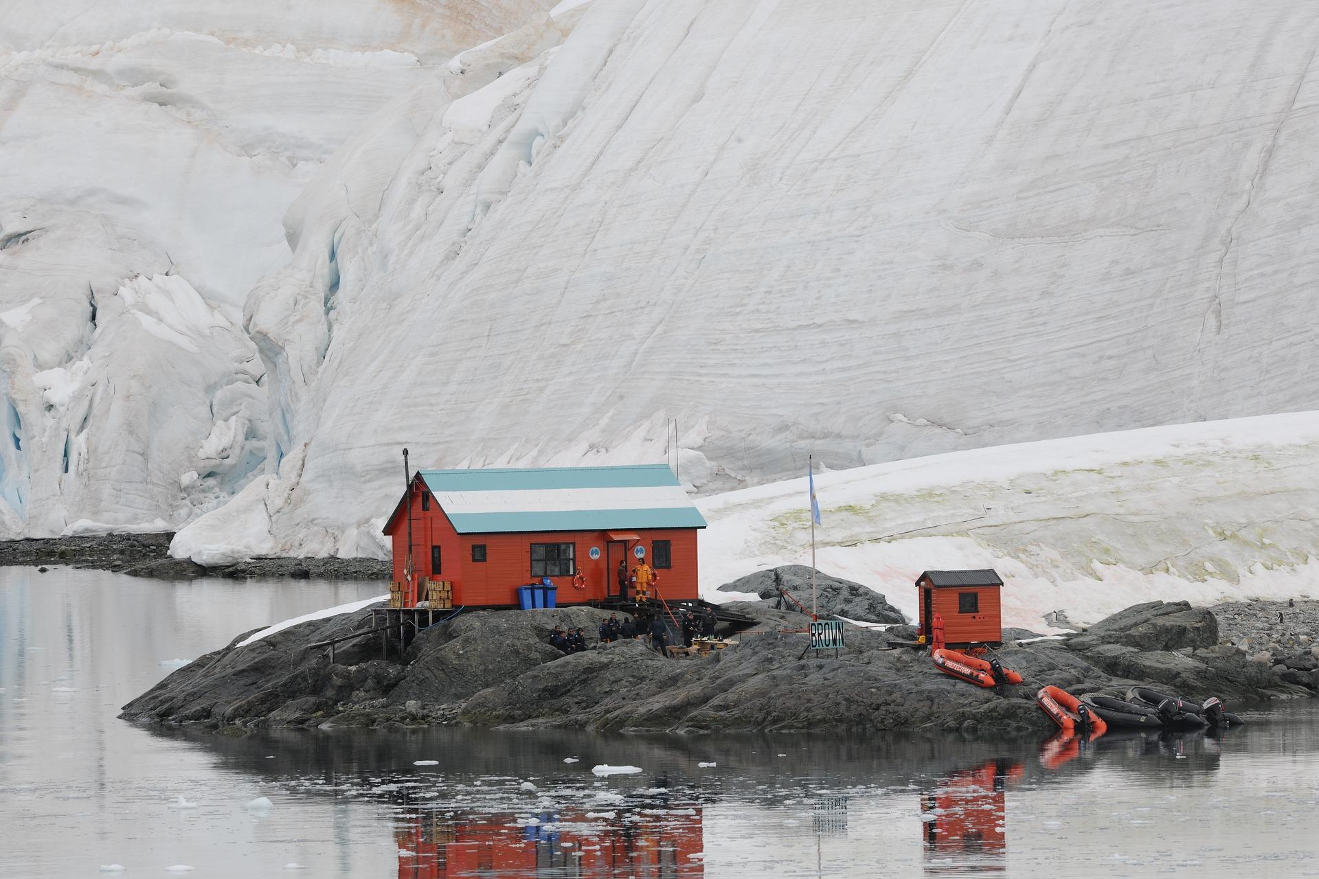 cabaña antártida