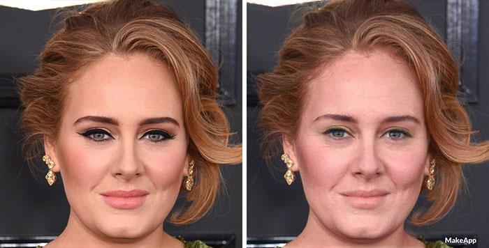 adele aplicación que quita el maquillaje