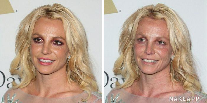 britney spears aplicación que quita el maquillaje