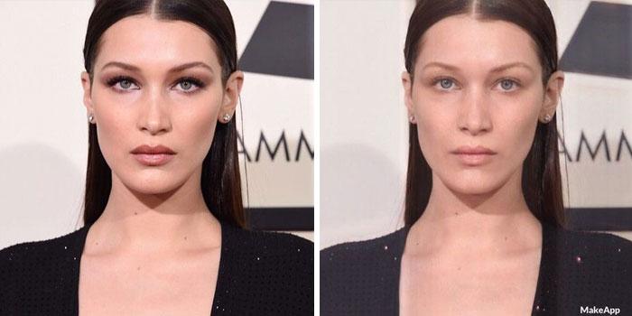 aplicación que quita el maquillaje