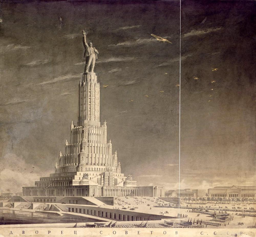 palacio soviets estatua lenin