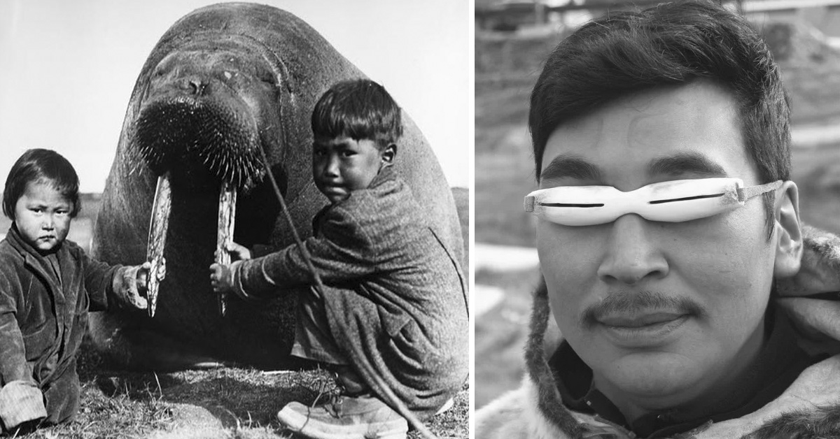 Las extrañas gafas de hueso o madera que utilizaban los inuits