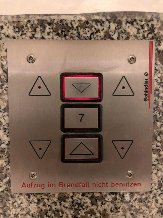 ascensor cartel indicador