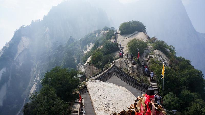 templo en la montaña huashan