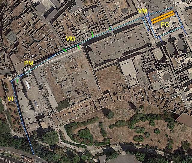 canales de drenaje de pompeya