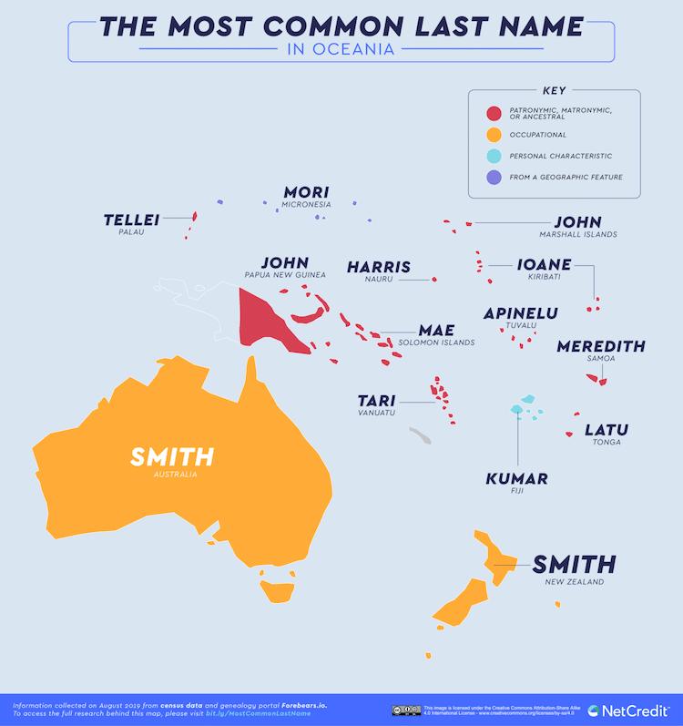 apellidos comunes en el mundo