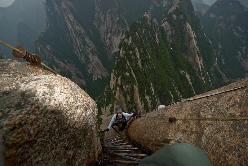 escalada al monte hua