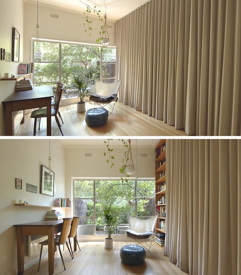 decoración cortina estudio