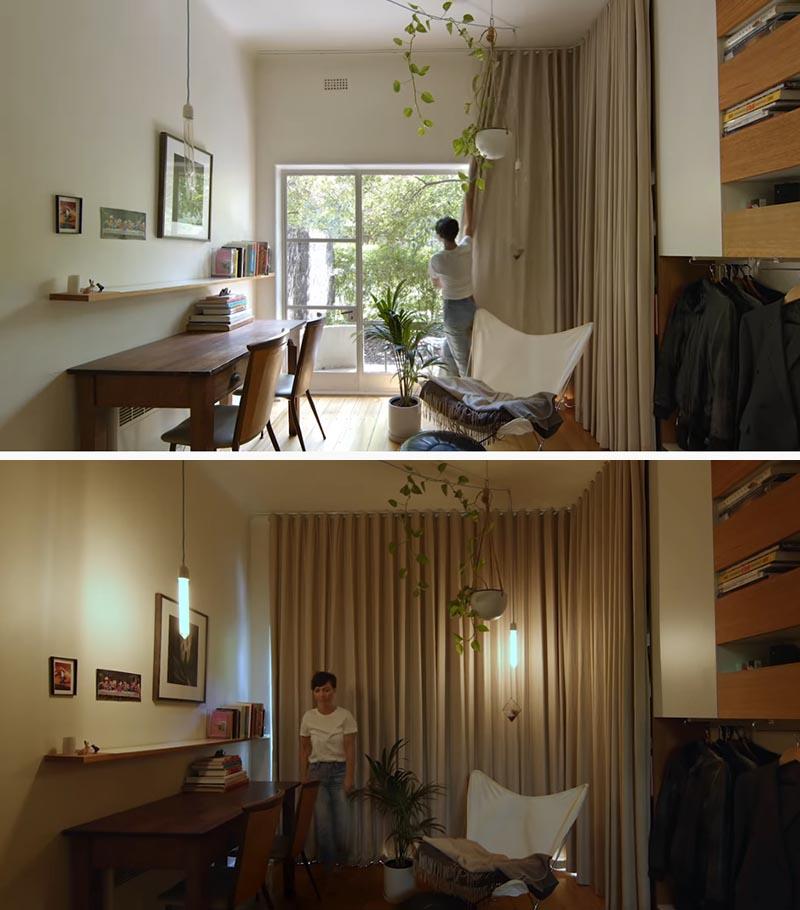 cortina mini apartamento