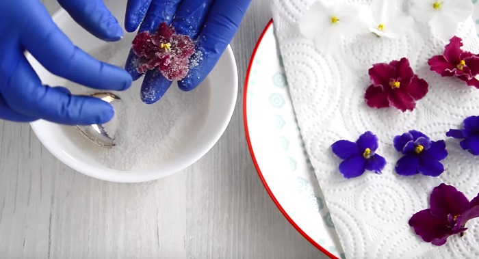 azucarar flores