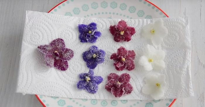 flores azucaradas