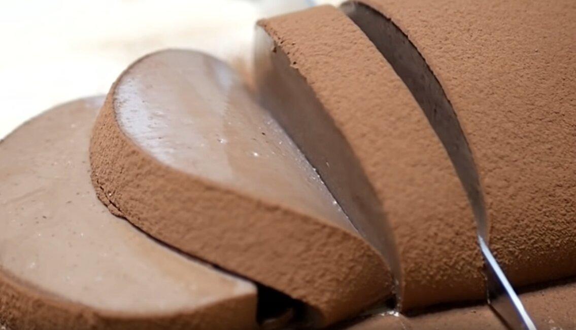 mousse chocolate japonés