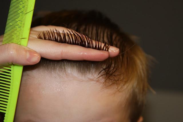 cortar las puntas a un niño