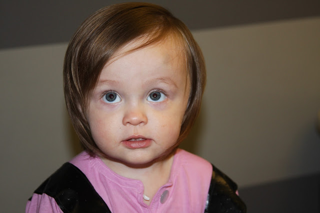niña corte de pelo