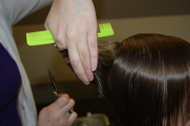 cortar las puntas corte de niños