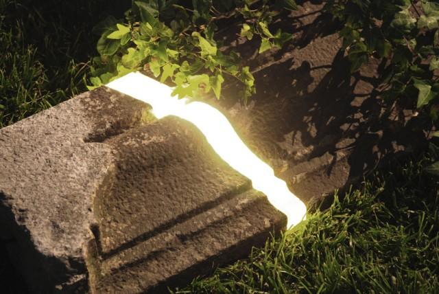 tronco iluminado para decorar