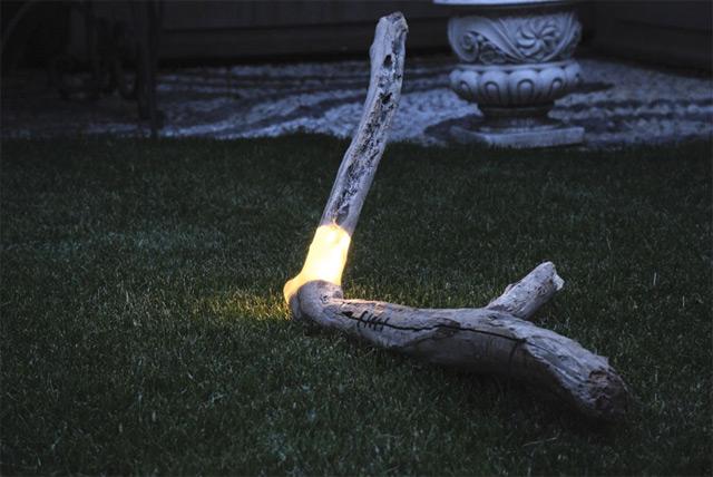 rama con luz led para iluminar una casa