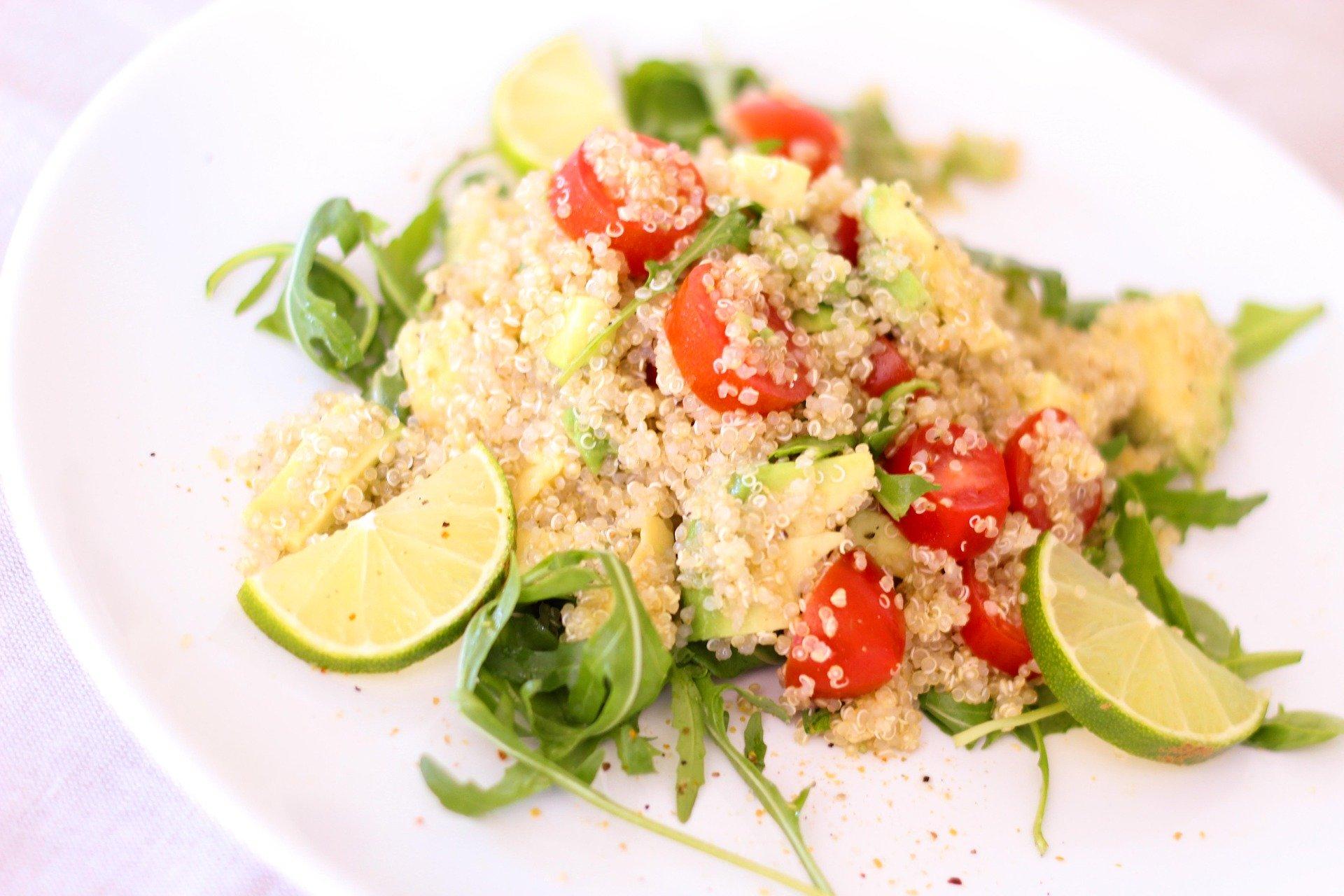 ensalada quinoa lima vegano