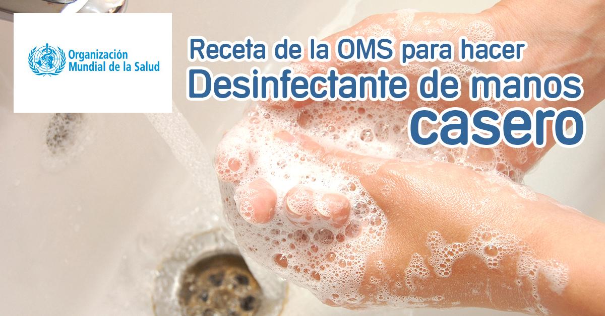 desinfectante casero manos
