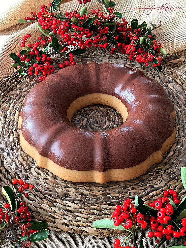 corona de turrón y chocolate