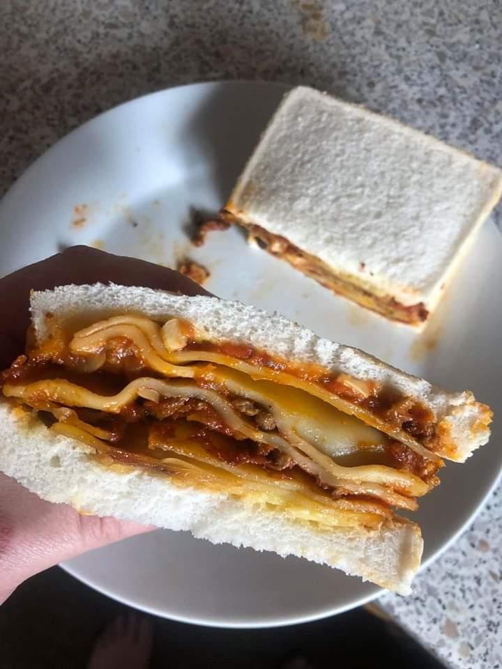 sándwich de lasaña