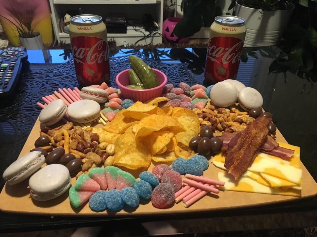 tabla de aperitivos con sobras