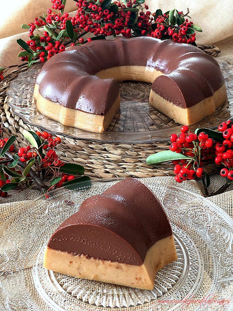 corona de chocolate con turrón postre fácil