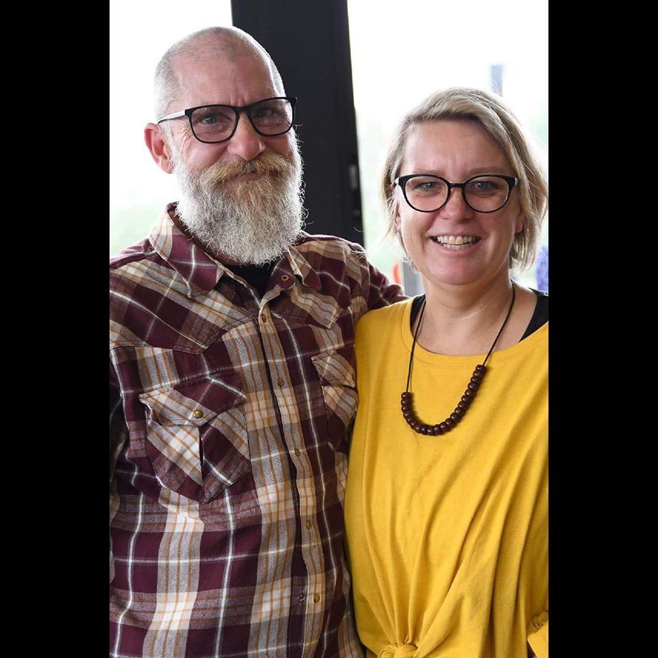Murray y su esposa