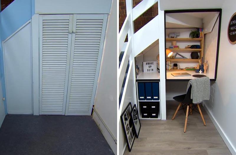Antes y después hueco escaleras 1