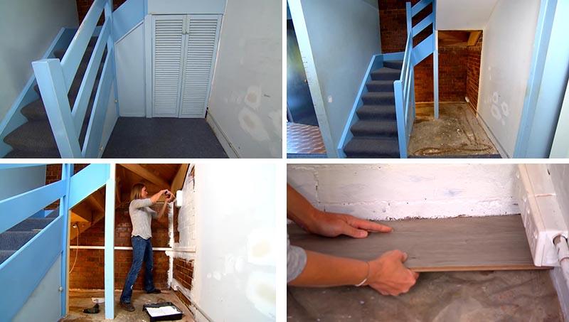 Antes y después hueco escaleras 2