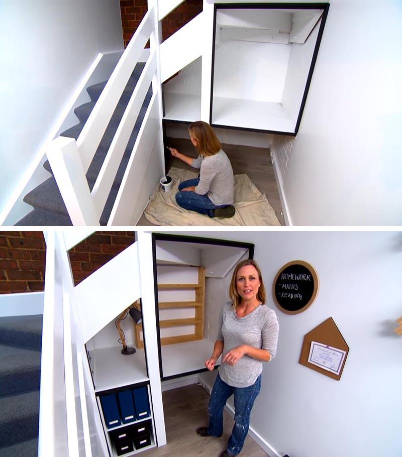 Antes y después hueco escaleras 3