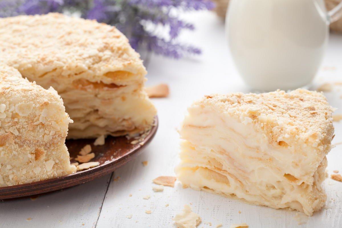 tarta napoleón receta casera
