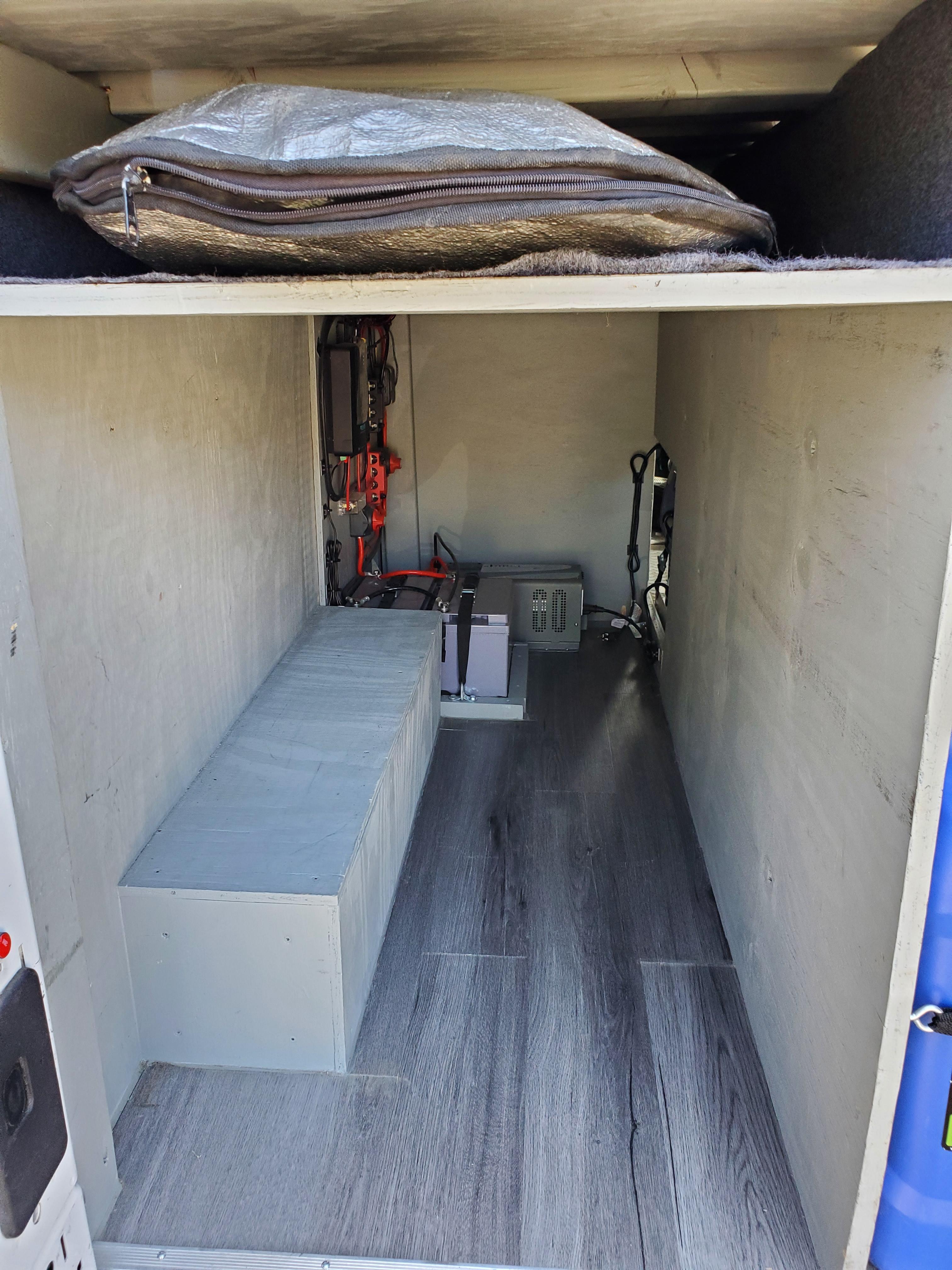 interior de la furgoneta