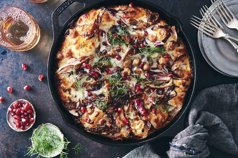 pizza con ingredientes diferentes
