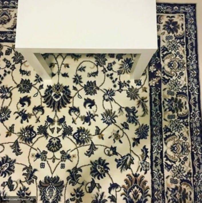 móvil sobre alfombra